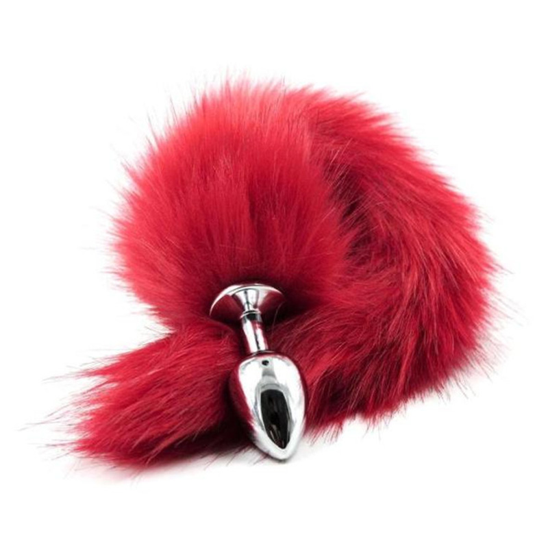Red Fox Tail Metal Anal Plug Adult Toys Sex Toys For Woman,Anal Butt Plug Tail Beads Sex Products Shop,Special Erotic Toys
