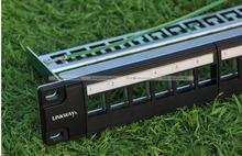 "19"" 1U 24Port Unload Modular Blank Patch Panel Cable Manager Bar RJ45 Sockets 80314311(China (Mainland))"