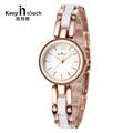 Luxury Wristwatch Bracelet Women Watches Gold Imitation Ceramic Quartz Watch Ladies Waterproof Clock Relogio Feminino Dourado