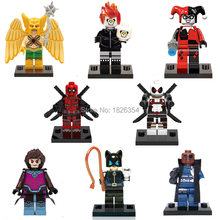 Baby Toys Super Heroes Gambit White Deadpool Minifigure Building Block Sets Model Bricks Toys For Children Compatible With Lego(China (Mainland))