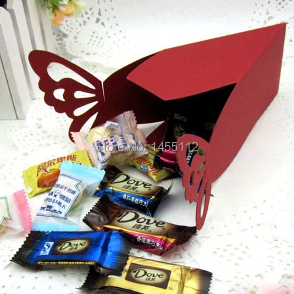 Butterfly Favor Gift Candy Boxes Cake Style for Wedding Party Baby Shower 50 Pcs(China (Mainland))