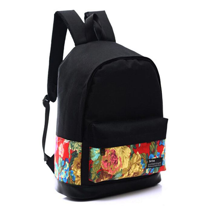 Bag women men canvas backpack senior high school 2015 new brand man shoulder bags boys girls students printing big capacity - Don't even think about it store