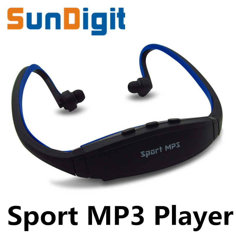 Hot Sell 2016 Sport MP3 Player Radio FM Outdoor Head wearing MP 3 Players Sports Earphone Music Support Micro SD/TF Card