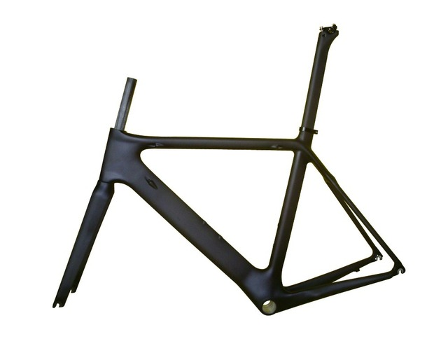 Carbon Road frame, Aero carbon frame, 51 cm Bicycle, Airfoil Sections, Aero, Stiffer, Better-Riding!!! free shipping