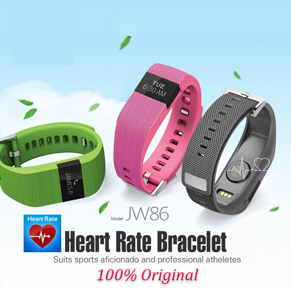 Similar jw86 smart fitness band as Fit-bit Charge HR Activity Wristband Wireless Heart Rate monitor OLED Display smart bracelet(China (Mainland))