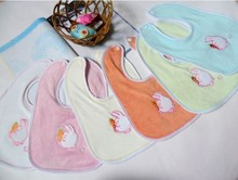 5pcs/set Cartoon rabbits eat carrots Baby Bibs Infant Babador Saliva Bavoir Towel baberos bebes Babadores For Newborn Girls Boys