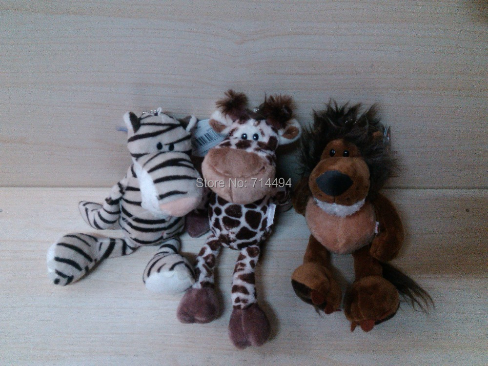 3pcs/lot 25cm Super Quality Hot Selling NICI Plush TOys Stuffed Animals Lion&Tiger&Leopard Low Price Baby Toys Free Shipping(China (Mainland))