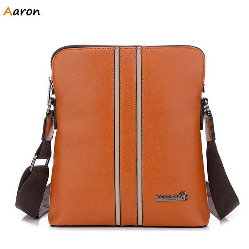 Aaron -  New Trendy Mens Over The Shoulder Bags,Classic Pallnelled Patchwork Male Handbags,PU Leather Waterproof Messenger Bags<br><br>Aliexpress