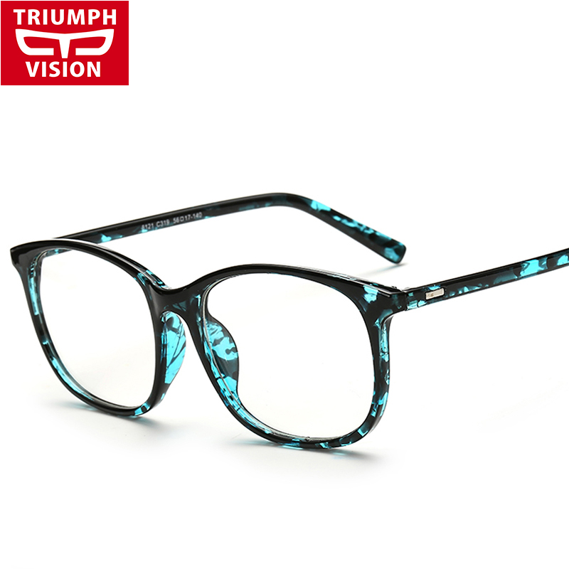 TRIUMPH VISION Acetate Black Frame Eyeglasses Women Square ...