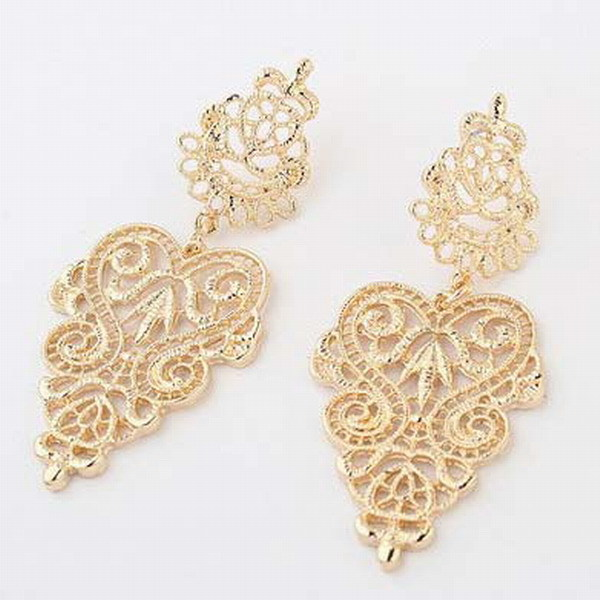 Earring Alloy Leave Drop Earrings Party/Daily New Fashion Women Free Shipping 411 Retail&Wholesale(China (Mainland))