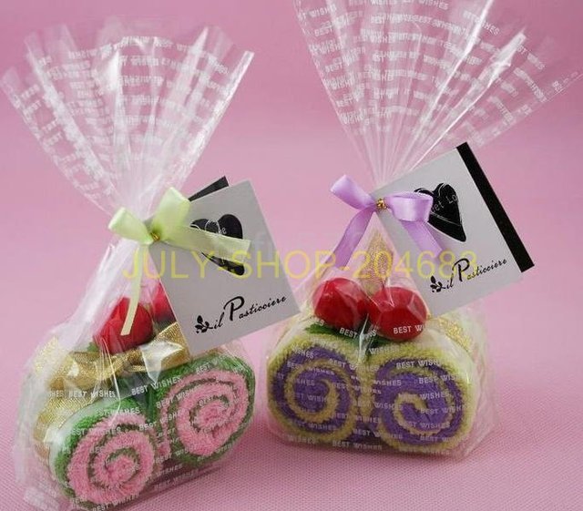 FREE SHIPPING! WHOLESALE CAKE TOWEL ARTWARE COTTON TOWEL MIX FOR CHILDREN WEDDING BIRTHDAY VALENTINE DAY GIFT - Helvetic rolls