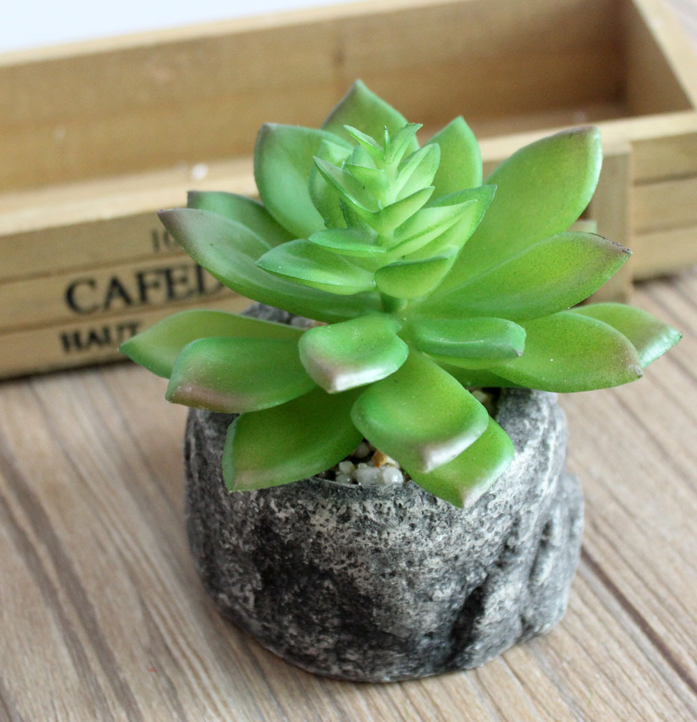 1pcs Artificial Succulents Landscape Fake Flower Arrangement DIY Artificial Potted Plant Garden Home Decorative Flowers(China (Mainland))