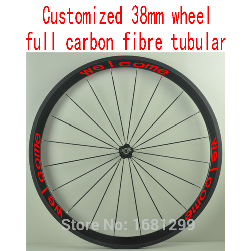 1pcs New MAVIC COSMIC SL 700C 38mm tubular rims road Track Fixed Gear bicycle 3K full carbon bike wheelset aero spokes Free ship<br><br>Aliexpress