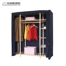 Gohide Home Super Large Pine Eco-Friendly Household Cloth Wardrobe Simple Wardrobe M31755 Black Portable Clothes Wardrobe (China (Mainland))