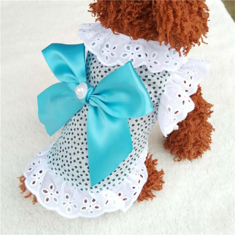 Summer New Cat Dog Clothes Puppy Dog Princess Dress Shirt With Nylon Lace Sexy Breathable Pet Clothing for Chihuahua Teddy XS S M L XL6