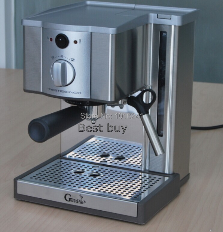 Automatic 1.2L Espresso coffee maker stainless steel cappuccino coffee machine nice crema with milk frother(China (Mainland))