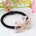 Free Shipping New 2016 Korean Original Elastic Rubber Band Hair Accessories Diamond Pearl Hair Rope Alloy