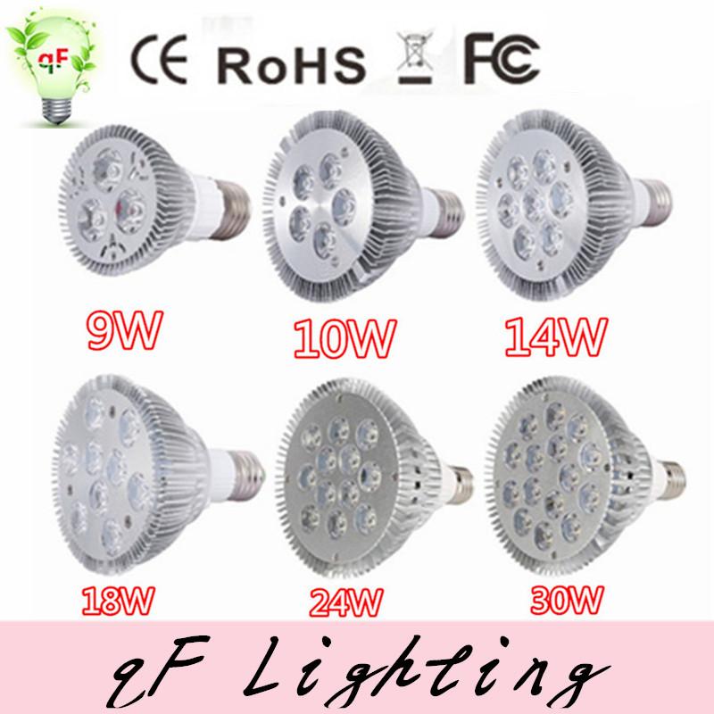 Ultra Bright E27 E26 PAR16 PAR30 PAR38 9W 14W 18W 24W 30W 10W LED Light Bulb Lamp Spotlight Indoor Lighting 110V 220V(China (Mainland))