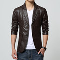 2016 New Arrival Men Brand Washing PU Leather Motorcycle Jackets for Male Large Size M 4XL