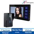 Wired Door Phone 7 Touch Screen Monitor Hidden Security Intercom Cameras Kit With Doorbell