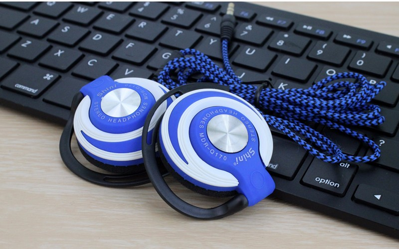 Free Shipping Headphones 3.5mm Headset EarHook Earphone For Mp3 Player Computer Mobile Telephone Earphone Wholesale