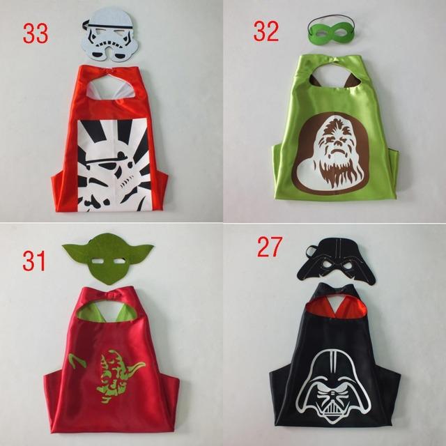 4 стиль накидки звездные войны накидки + маска 2 шт./компл. настроить логотип - дарт вейдер йода штурмовик обезьяна - человек накидки и маски C367