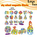 64PCS Educational Magnetic Designer Blocks Sky wheel Model DIY Development Building Block Children Game Construction Bricks
