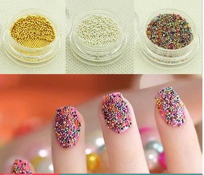 Caviar color nail tools DIY jewelry steel balls full does not fade 1mm pachinko