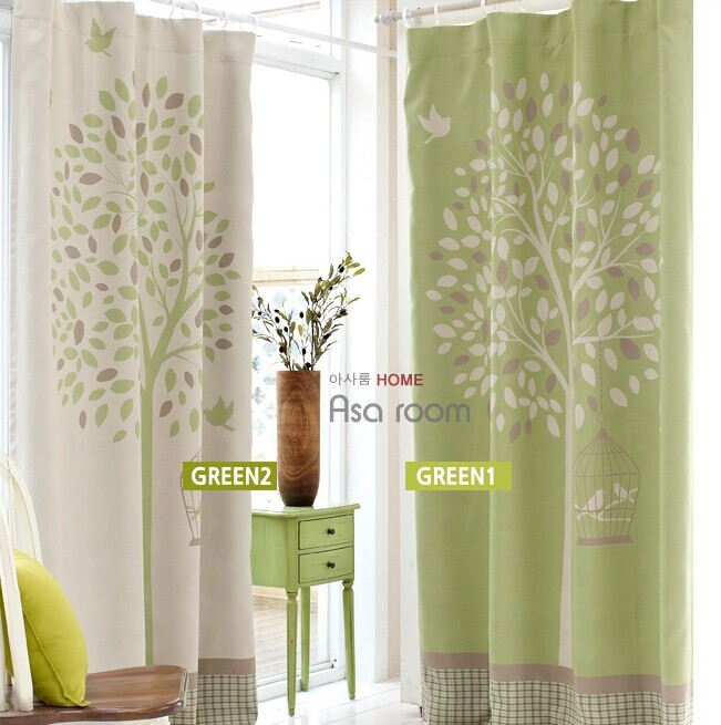 Free shipping korea large flower finished curtains shade cloth curtain materi - Comment mettre des anneaux aux rideaux ...