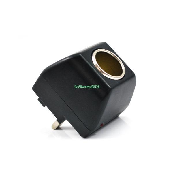 Universal UK Plug 500mA AC To DC Car Cigarette Lighter Socket Adapter Converter 110V-220V AC To 12V DC EE6192(China (Mainland))