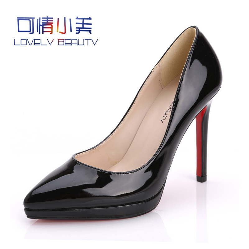 Brand 2016 Womens Red Bottom Shoes High Heels Luxury Designer Nude Pink Patent Leather Wedding 11 cm - Feng shang co., LTD store