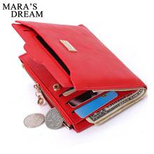 Buy Mara's Dream Designer Slim Women Wallet Thin Zipper Ladies PU Leather Coin Purses Female Purse Mini Clutch Cheap Womens Wallets for $4.55 in AliExpress store