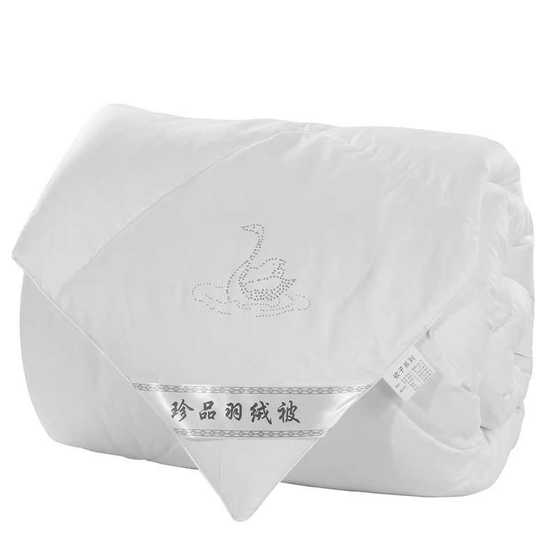 100% Goose Down Comforter,220*240cm 4.5 kg filling White Winter Bedding Comforter,High Quality Goose Down Quilt Queen Twin(China (Mainland))