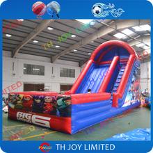 cheap price 0.55mm pvc tarpaulin11x4.5x6m big hero 6 inflatable pool slide,inflatable water slide, inflatable slide with pool(China (Mainland))