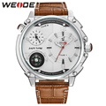 2016 WEIDE Luxury Brand Fashion Casual Watch Men Quartz Leather Clock Man Sports Watches Waterproof Men