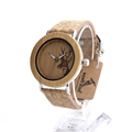 Bobo Bird E20 Brand Luxury Wooden Bamboo Quartz Watch Deer Designer Wood Watch With Stainless Base