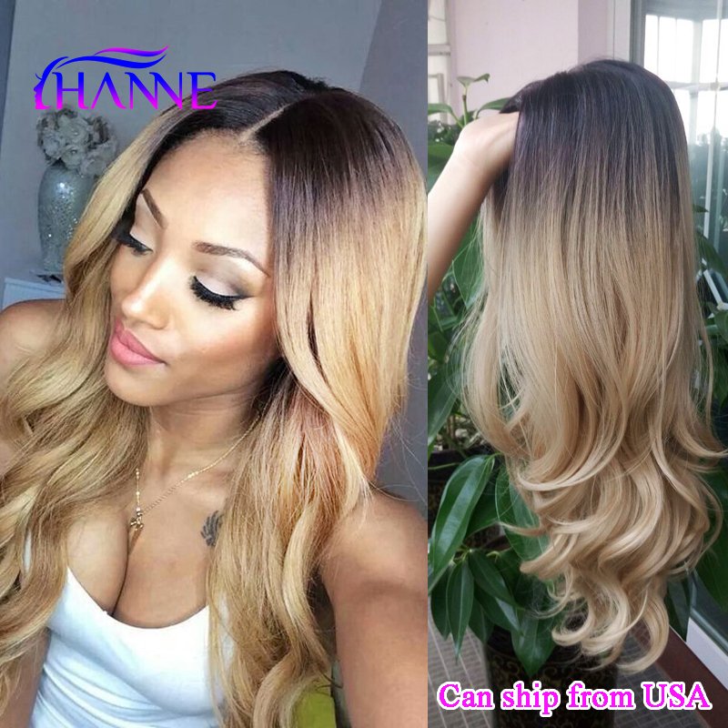 Black to blonde Ombre Synthetic Wigs For Black Women ombre body wave Heat Resistant Freetress Hair Synthetic Hair Wig Sale