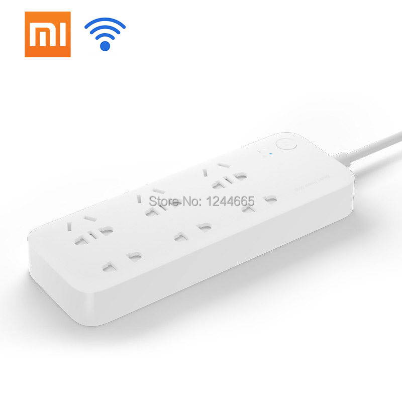 Original Xiaomi Power Strip Plug 6 Ports WiFi Wireless Wall Socket Phone Computer Power Adapter Remote With Phone APP Control(China (Mainland))