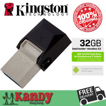 Kingston OTG Smart phone pendrive Micro USB 3.0 Flash OTG 16GB 32GB 64GB for Android Mobile phone Wholesale 25pcs lot microDuo