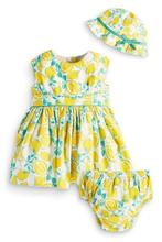 2015 new  summer style sleeveless baby clothing dress+ underpants+ high quality hat baby girl clothes(China (Mainland))
