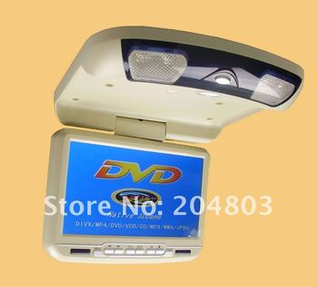 """9"""" inches Roof Mount Car DVD Player LCD Screen Monitor Free Shipping"""