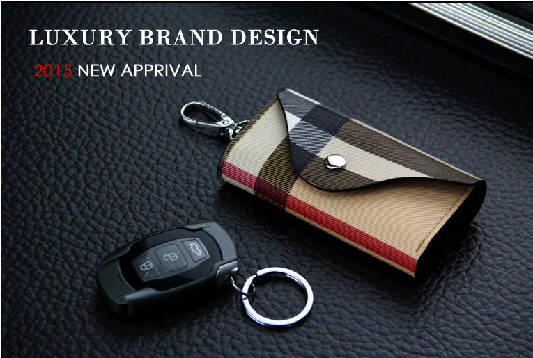 2015 New High-Grade Genuine Leather Purse Key Wallets Luxury Gift For Men & Women Housekeeper Holders Key Bag Cases drop ship(China (Mainland))
