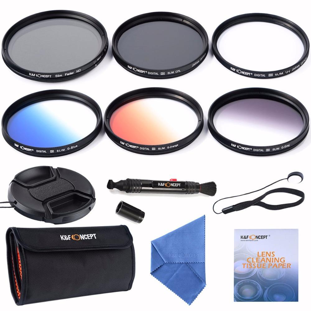 77mm slim UV CPL+ Slim Adjustable ND+slim Blue Orange Grey Graduated colour filter for Nikon D300,D7000,D5100 D3200(China (Mainland))