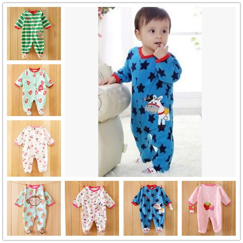 0-12M Newborn Baby Boy Rompers Spring Autumn Cartoon Panda Rompers Underwear Long Sleeves Striped Baby Clothing Overalls(China (Mainland))