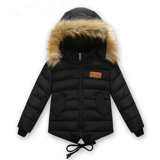 Детская одежда мужчин зимняя хлопка-ватник 2016 вниз хлопок ватные куртки утолщение мальчики сгущает Капюшоном пальто