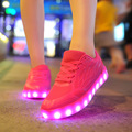 2017 NEW Led Shoes Casual Breathable Luminous LED Lights USB Charging Colorful Shoes Lovers Casual Flash