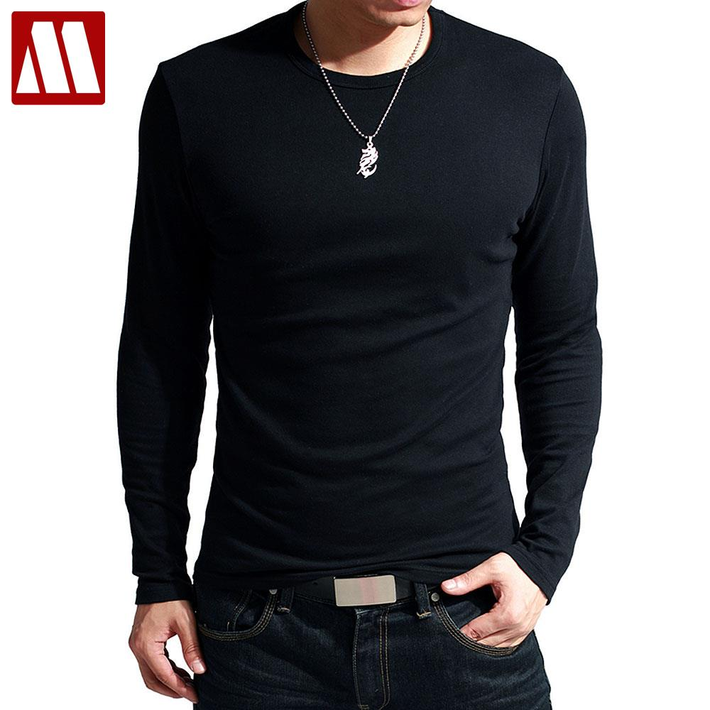 Newest fitness men long sleeve slim fit t shirt men for Thermal t shirt long sleeve