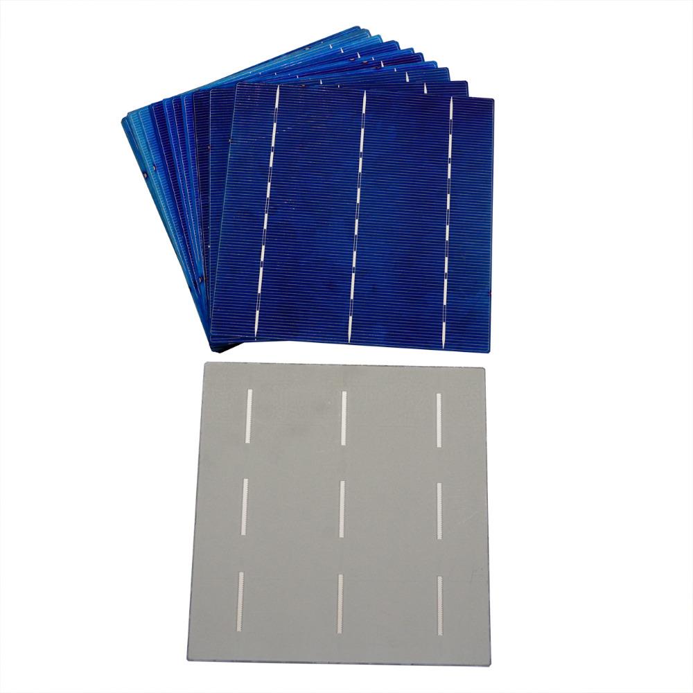 10pcs 6x6 Polycrystalline Solar Cell 156 156mm Polycrystalline Solar Cell Price Solar Cell Photovoltaic for DIY