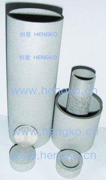 Sintered metal cartridge filter