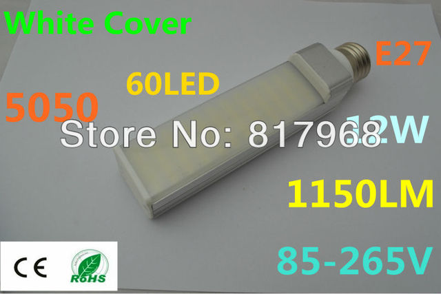 Transparent cover LED Bulb 220v 12W 5050 SMD 60  LED e27 Corn Light  Cool White/Warm White 85V-265V Side lighting certification